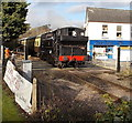 SO6303 : Dean Forest Railway train crosses Hill Street, Lydney by Jaggery