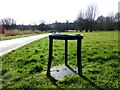 H4772 : Remains of a bicycle stand, Mullaghmore by Kenneth  Allen