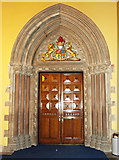 NS5666 : Bute Hall door at Glasgow University by Thomas Nugent