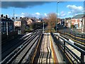 NZ2566 : Lots of lines at West Jesmond by David Martin