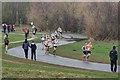 NZ3647 : Road Race Relays by Mick Garratt
