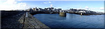 SC2667 : Panorama of Castletown harbour entrance by Richard Hoare