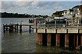 SZ0387 : Quay at Sandbanks by Peter Trimming