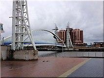 SJ8097 : Salford Quays, Lowry Bridge by David Dixon