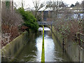 SK5539 : River Leen from Triumph Road by Alan Murray-Rust