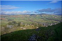 SK1582 : A view of Castleton and the Hope Valley by Peter Barr
