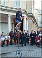 ST7564 : Bath - fire juggling on a 10 foot unicycle! by Chris Allen