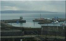 J4186 : The entrance to Carrickfergus Harbour viewed from the keep of Carrickfergus Castle by Eric Jones