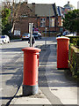 SK5639 : Postboxes on The Ropewalk, ref NG1 91 (pillar box) and NG1 92 (business box) by Alan Murray-Rust