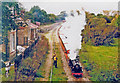 TG2620 : Bure Valley train at Coltishall, 1994 by Ben Brooksbank