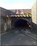 SS7597 : Eastern edge of Dark Arch bridge, Neath by Jaggery