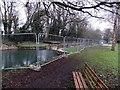 SO7806 : Fenced-off Blunder Lock near Eastington by Jaggery
