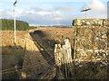 NT1852 : Dismantled railway at Lamancha by M J Richardson