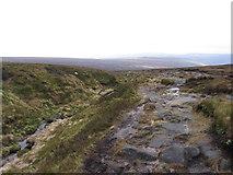 SK0896 : Pennine Way beside Wildboar Grain by Gareth James