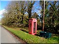 TL0062 : Phone box and grit store, Knotting Green by Bikeboy