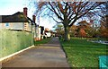 SO8456 : Gheluvelt Park - private road, Worcester by P L Chadwick