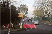 SX9065 : Roadworks, Cricketfield Road, Torquay by Derek Harper