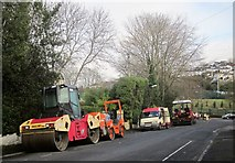 SX9065 : Road working vehicles, Teignmouth Road, Torquay by Derek Harper