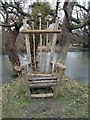 TQ5509 : A 'Chair' in grounds of Mitchelham Priory by PAUL FARMER