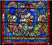 TR1557 : Plague in the house of Sir Jordan Fitz-Eisulf Part 8, Stained glass window by Julian P Guffogg
