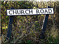 TM4088 : Church Road sign by Adrian Cable