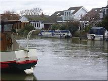 TQ1667 : Thames Ditton Island by Marathon