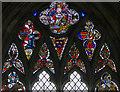 SK9445 : Stained glass window, St Nicholas' church, Carlton Scroop by J.Hannan-Briggs