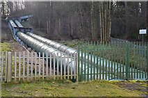NS8841 : Water pipes between Bonnington Linn and the power station by Jim Barton