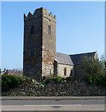 SH4862 : Tower of Eglwys Llanbeblig, Caernarfon by Jaggery