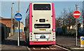 J3475 : Bus and bus lane, Corporation Street, Belfast (February 2014) by Albert Bridge