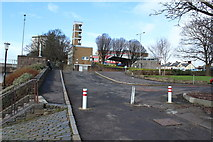 NS3421 : Road at Ayrshire College Car Park by Billy McCrorie
