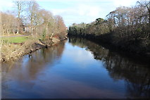 NS3421 : River Ayr from Craigholm Bridge by Billy McCrorie