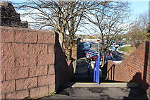 NS3421 : Footpath to Ayr Railway Station by Billy McCrorie