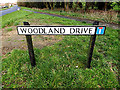 TM3388 : Woodland Drive sign by Adrian Cable