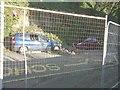 TR3241 : Landslide-damaged car in Laureston Place by John Baker