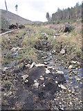 J3629 : Stream erosion in Donard Wood by Eric Jones