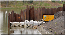 J3371 : Revetment works, River Lagan, Belfast - March 2014(2) by Albert Bridge