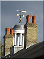 TQ3975 : Windvane of Merchant Taylors Almshouses by Stephen Craven