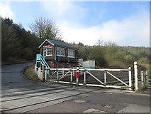 SE7365 : Kirkham Abbey signal box and level crossing by John Slater