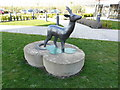 TL4461 : Deer Statue at Orchard Park Travelodge by enchantingmiaow