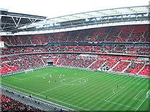 TQ1985 : Wembley Stadium - The first football match by Richard Humphrey