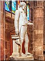 SJ8398 : Statue of Thomas Fleming, Manchester Cathedral by David Dixon