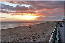 TQ2804 : Nearly sunset, Hove beach by Robin Webster