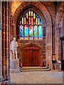 SJ8398 : The Healing Window and Thomas Fleming's Statue by David Dixon