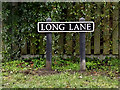 TG2301 : Long Lane sign by Adrian Cable
