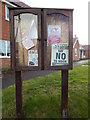 TL9442 : Noticeboard in Mill Green by Hamish Griffin