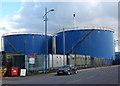 SJ3393 : Storage tanks by William Starkey