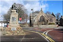 NX6851 : War Memorial & Greyfriars Church, Kirkcudbright by Billy McCrorie