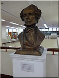 SU6400 : Bust of Charles Dickens within Portsmouth Central Library by Basher Eyre