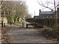 NZ1352 : Barrier on the Consett and Sunderland path by Oliver Dixon